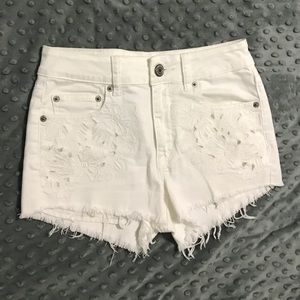 3/$20 White high rise shorts